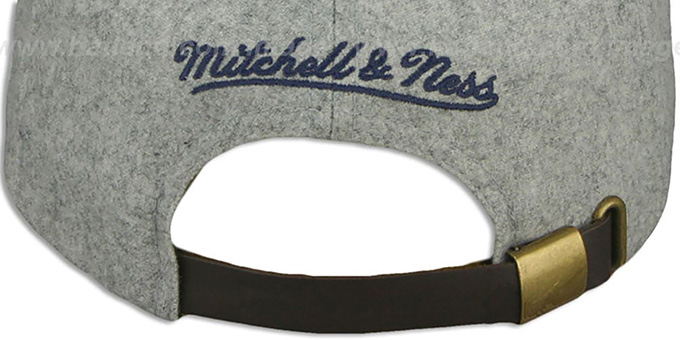 Jets '2T TAILSWEEPER STRAPBACK' Grey-Navy Hat by Mitchell & Ness