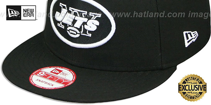 Jets 'TEAM-BASIC SNAPBACK' Black-White Hat by New Era