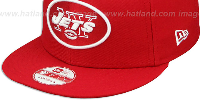 Jets 'TEAM-BASIC SNAPBACK' Red-White Hat by New Era