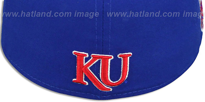 Kansas 'SIDE BASKETBALL-PATCH' Royal-Red Fitted Hat by New Era