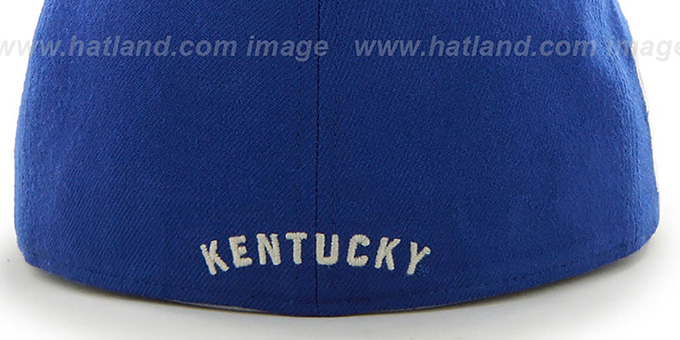 online store a793f e07b7 Kentucky NCAA CATERPILLAR Royal Fitted Hat by 47 Brand
