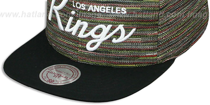 Kings 'KNIT-WEAVE SNAPBACK' Multi-Black Hat by Mitchell and Ness
