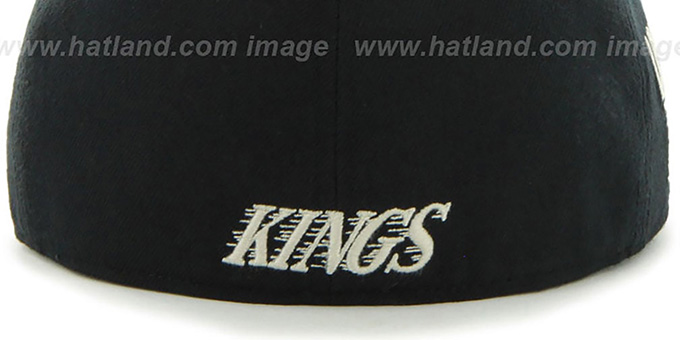 Kings 'NHL CATERPILLAR' Black Fitted Hat by 47 Brand
