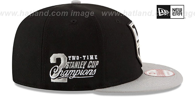 Kings 'NHL STAR-TRIM SNAPBACK' Black-Grey Hat by New Era