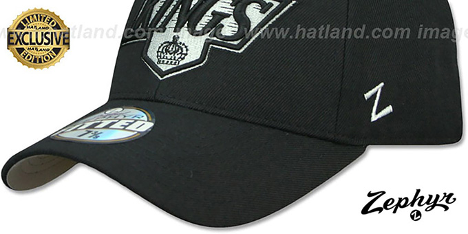 Kings 'VINTAGE SHOOTOUT' Black Fitted Hat by Zephyr