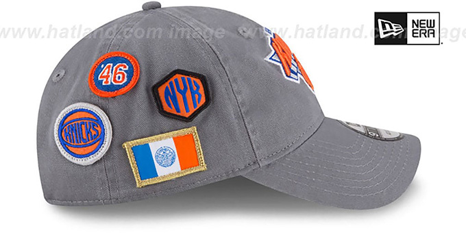 New York Knicks 2018 NBA DRAFT STRAPBACK Grey Hat by New Era 06571f587