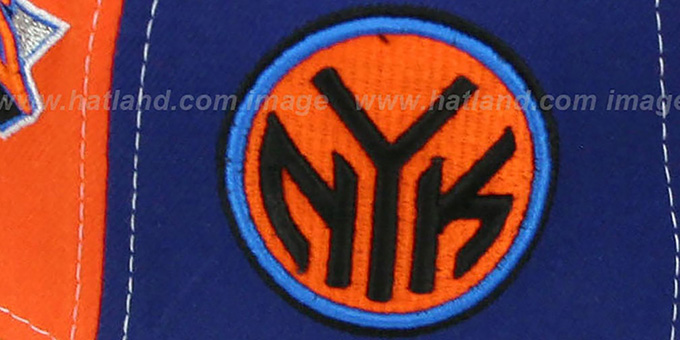 Knicks 'DOUBLE WHAMMY-2' Orange-Royal-White Fitted Hat by New Era