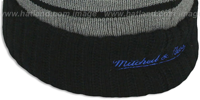 Knicks 'HIGH-5 CIRCLE BEANIE' Grey-Black by Mitchell and Ness