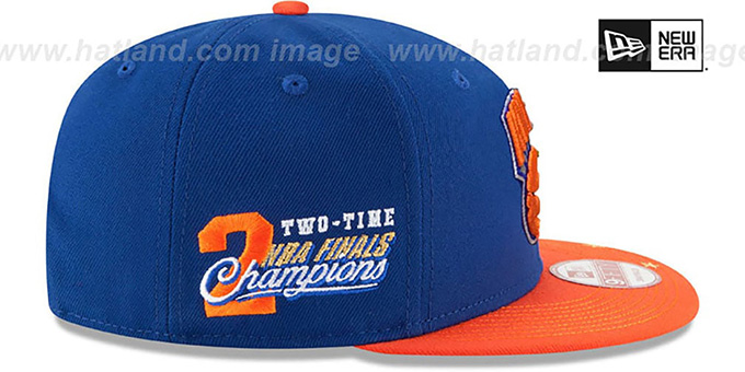 Knicks 'NBA STAR-TRIM SNAPBACK' Royal-Orange Hat by New Era