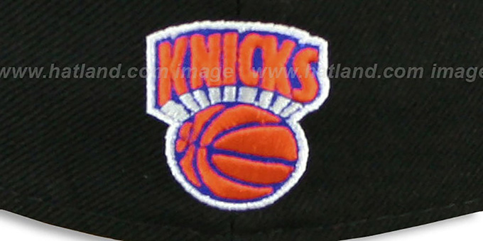 Knicks 'SCRIPT-PUNCH' Black-Orange Fitted Hat by New Era