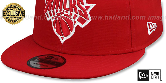 Knicks 'TEAM-BASIC SNAPBACK' Red-White Hat by New Era