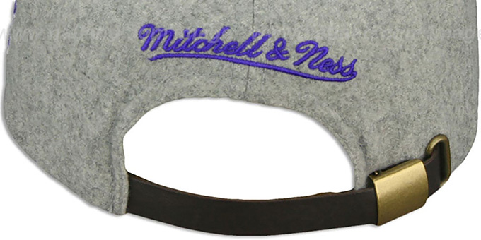 Lakers '2T TAILSWEEPER STRAPBACK' Grey-Purple Hat by Mitchell & Ness