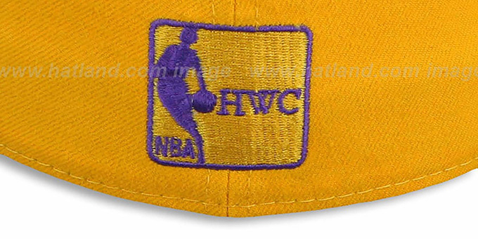 Lakers 'COMIC-WORD' Gold-Black Fitted Hat by New Era