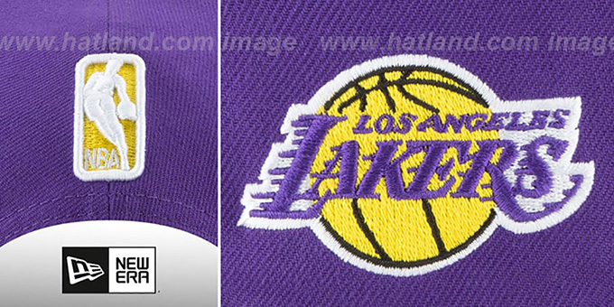 Lakers 'GOTHIC-ARCH SNAPBACK' Purple Hat by New Era