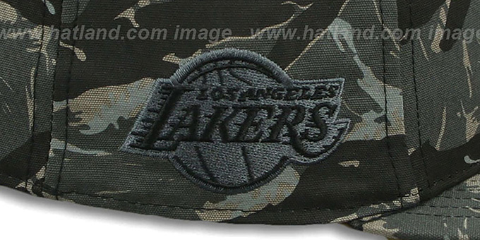 Lakers 'NIGHT-VISION SNAPBACK' Adjustable Hat by Twins 47 Brand