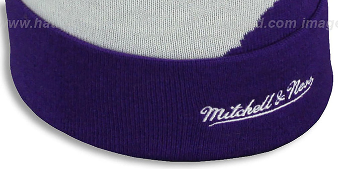 Lakers 'PAINTBRUSH BEANIE' by Mitchell and Ness