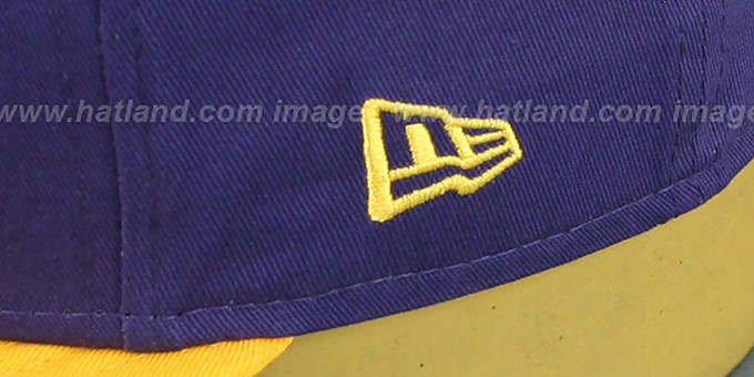 Lakers 'SIDE-TEAM' IRON MAN SNAPBACK Hat by New Era