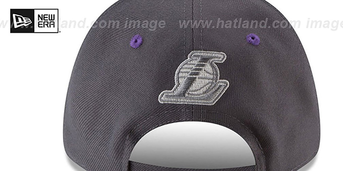 Lakers 'THE-LEAGUE GREY-POP STRAPBACK' Hat by New Era