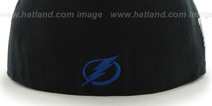 Lightning 'NHL CATERPILLAR' Black Fitted Hat by 47 Brand