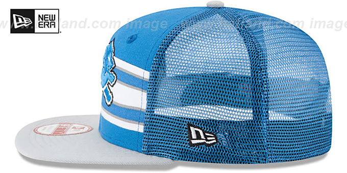 Lions 'THROWBACK-STRIPE SNAPBACK' Blue-Grey Hat by New Era