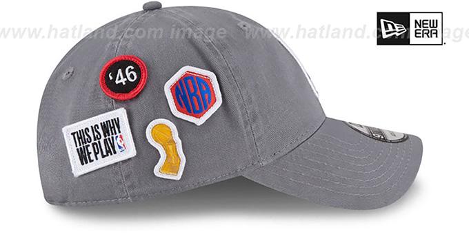 13bf987f4f66d9 Logoman 2018 NBA DRAFT STRAPBACK Grey Hat by New Era
