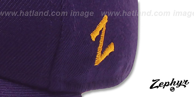 LSU 'DH' Fitted Hat by Zephyr - purple