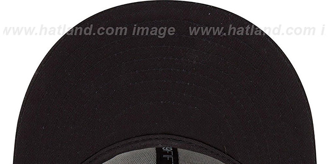 Marlins 'MLB FADEOUT-BASIC' Black Fitted Hat by New Era