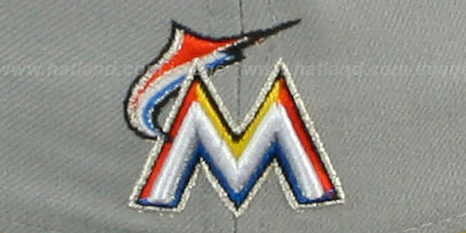 Marlins 'TEAM-PRIDE' Grey-Black Fitted Hat by New Era