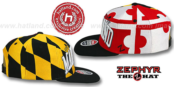 Maryland 'SUPER-FLAG SNAPBACK' Hat by Zephyr