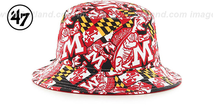 Maryland 'THROWBACK BRAVADO BUCKET' Black Hat by Twins 47 Brand