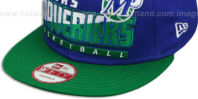 Mavericks 'SLICE-N-DICE SNAPBACK' Royal-Green Hat by New Era