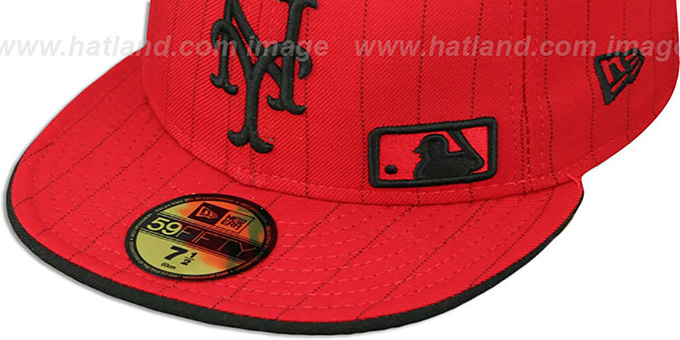Mets 'FABULOUS' Red-Black Fitted Hat by New Era