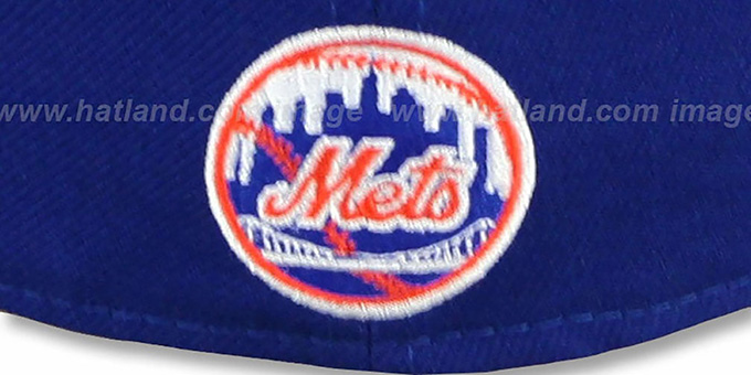 Mets 'SCRIPT-PUNCH' Royal-Orange Fitted Hat by New Era