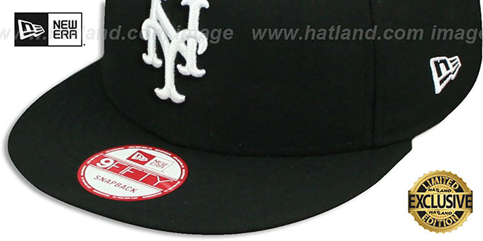 Mets 'TEAM-BASIC SNAPBACK' Black-White Hat by New Era