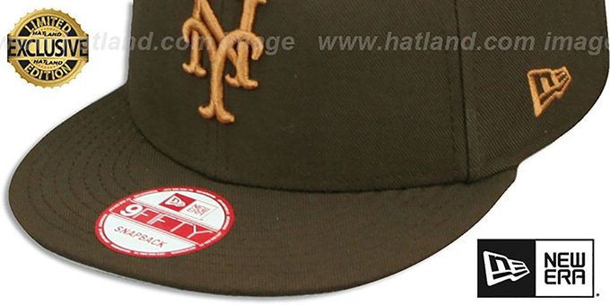 Mets 'TEAM-BASIC SNAPBACK' Brown-Wheat Hat by New Era