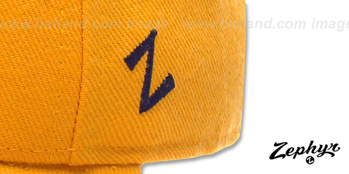 Michigan 'DH' Fitted Hat by ZEPHYR - gold