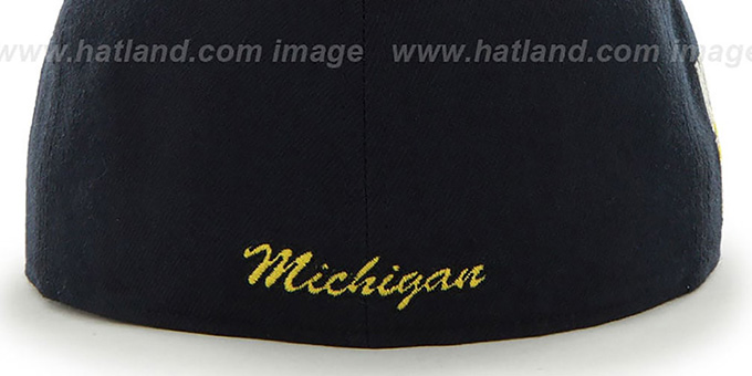 Michigan 'NCAA CATERPILLAR' Navy Fitted Hat by 47 Brand