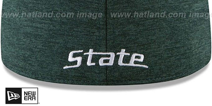 Michigan State 'HEATHER-HUGE 2' Green-White Fitted Hat by New Era
