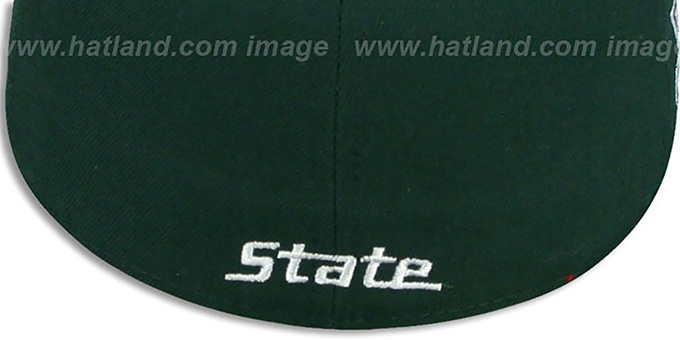 Michigan State 'SIDE BASKETBALL-PATCH' Green-Grey Fitted Hat by New Era