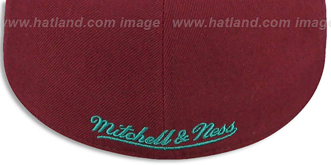 Mighty Ducks 'VINTAGE CLASSIC' Plum Fitted Hat by Mitchell & Ness