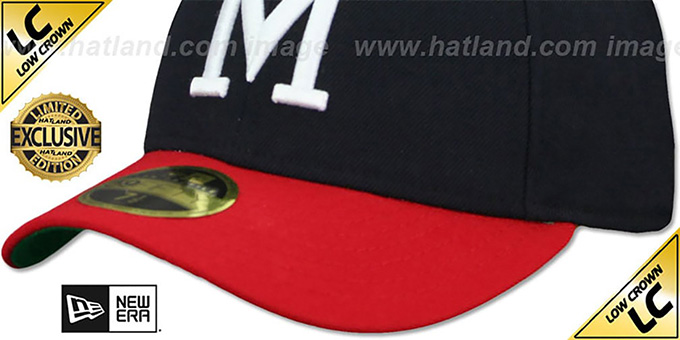 Milwaukee Braves 'LOW-CROWN 1965-77 COOPERSTOWN' Fitted Hat by New Era