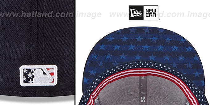 a43eb1cdce4 ... MLB Umpire  2018 JULY 4TH STARS N STRIPES  Navy Fitted Hat by New Era