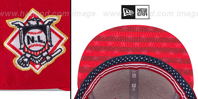 562189bd1c1 ... Nationals  2018 JULY 4TH STARS N STRIPES  Red Fitted Hat by New Era