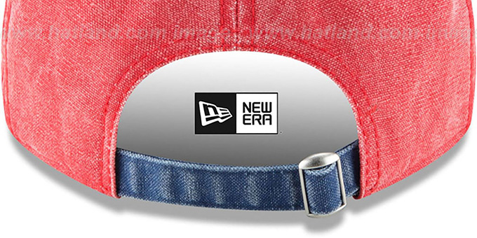 Nationals 'GW RUGGED CANVAS STRAPBACK' Red-Navy Hat by New Era