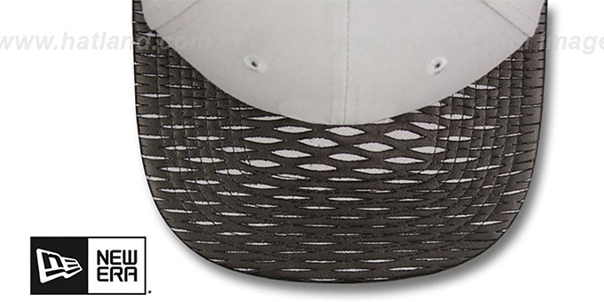 Nationals 'LEATHER-RIP SNAPBACK' Grey-Black Hat by New Era