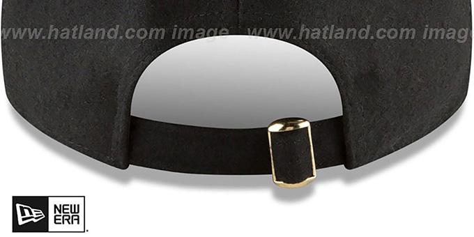 Nationals 'MINI GOLD METAL-BADGE STRAPBACK' Black Hat by New Era