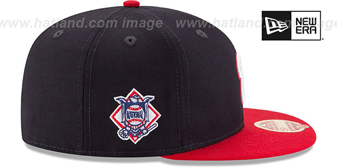 Nationals 'MLB WOOL-STANDARD' Navy-Red Fitted Hat by New Era