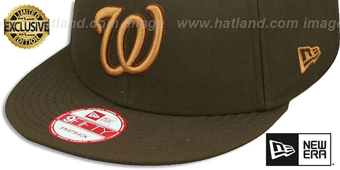 22b6aae6b33c98 ... Nationals 'TEAM-BASIC SNAPBACK' Brown-Wheat Hat by New Era