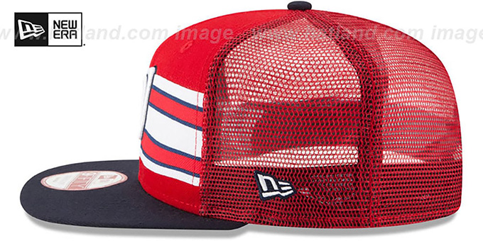 Nationals 'THROWBACK-STRIPE SNAPBACK' Red-Navy Hat by New Era