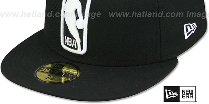 NBA LOGOMAN Black-White Hat By New Era